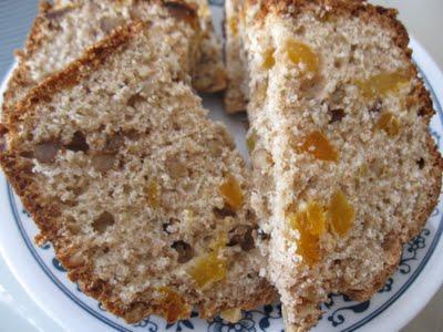 Whole Wheat Apricot Walnut Loaf