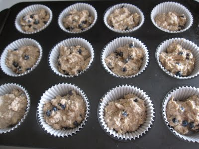 Low-Fat Vegan Whole Wheat Blueberry Muffins