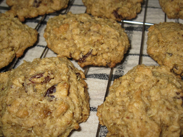 Quinoa Oatmeal Raisin Cookies