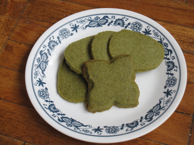 Green Tea (Matcha) Shortbread Cookies