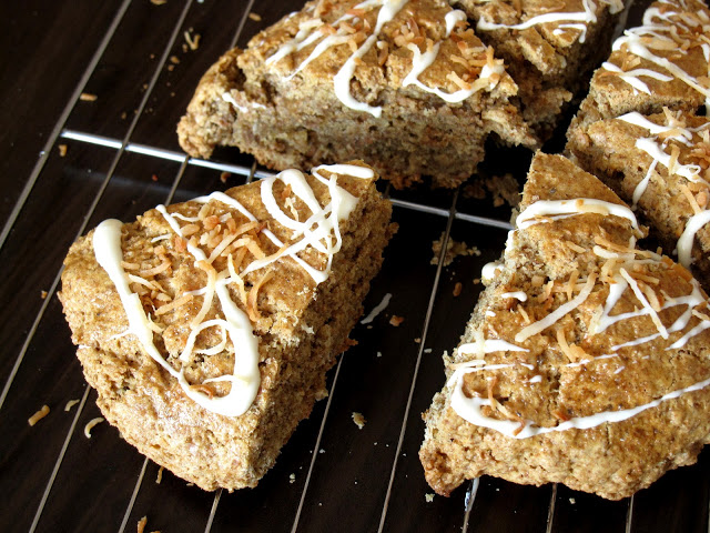 White Chocolate Toasted Coconut Scones