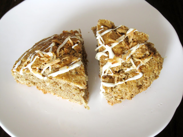 White Chocolate Toasted Coconut Scones - She Bakes Here