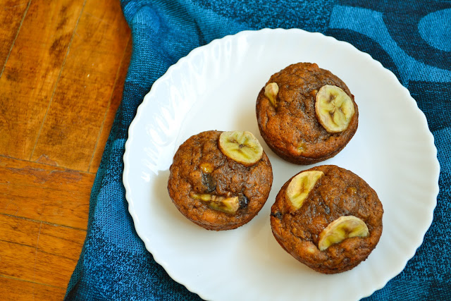 Chocolate Espresso Banana Nut Muffins