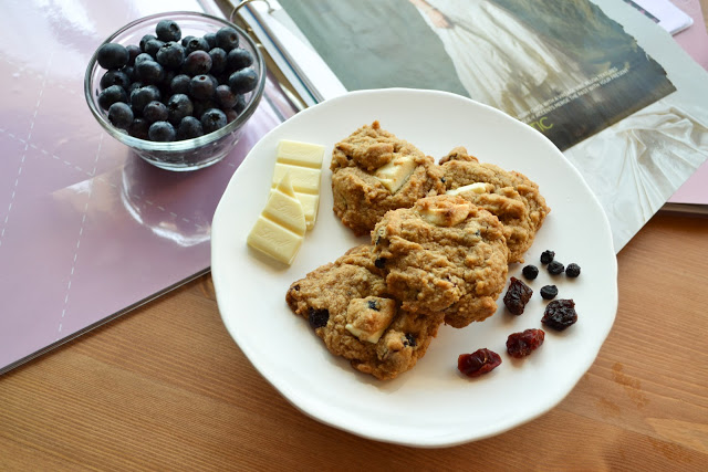 Berry Blasted White Chocolate Cookies
