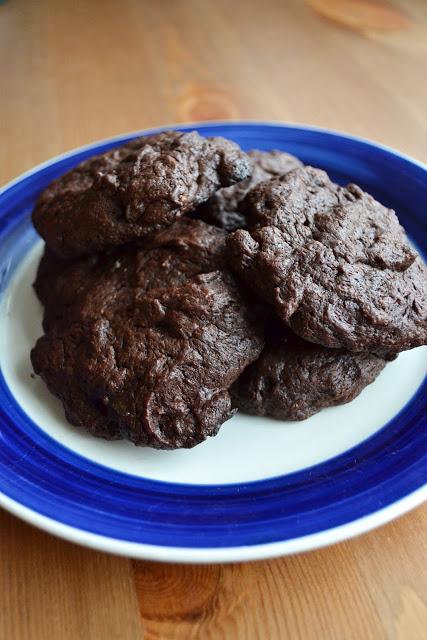 Dark Chocolate Couverture Brownie Cookies