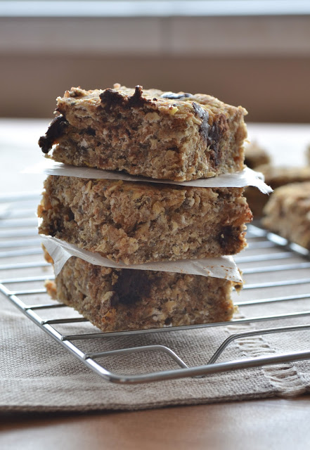 Chocolate Chip Lentil Oatmeal Bars