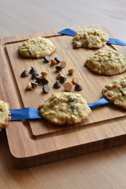 Maple Oatmeal Cookies with Chocolate & Butterscotch Chips