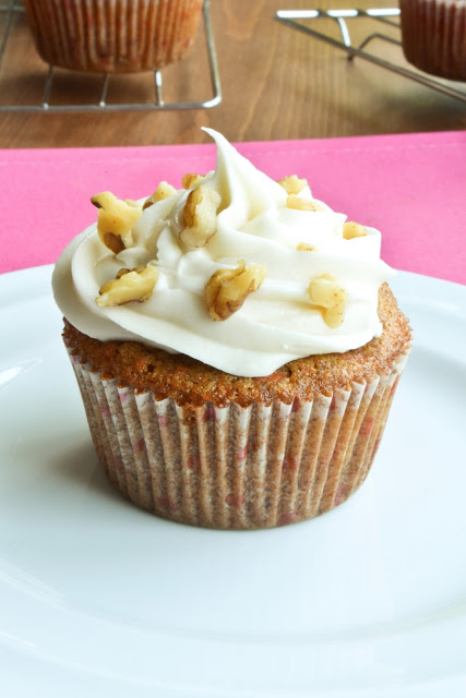 Carrot Cupcakes with Milk Free Cream Cheese Icing