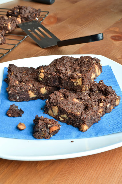 Chocolate Butterscotch Peanut Butter Cookie Bars