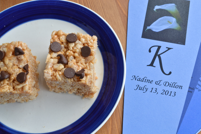 Chocolate Chip Peanut Butter Rice Krispies Squares
