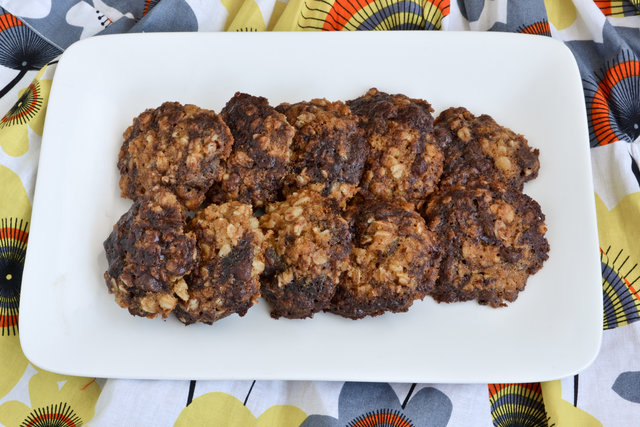 Chewy Chocolate Oatmeal Brownie Cookies