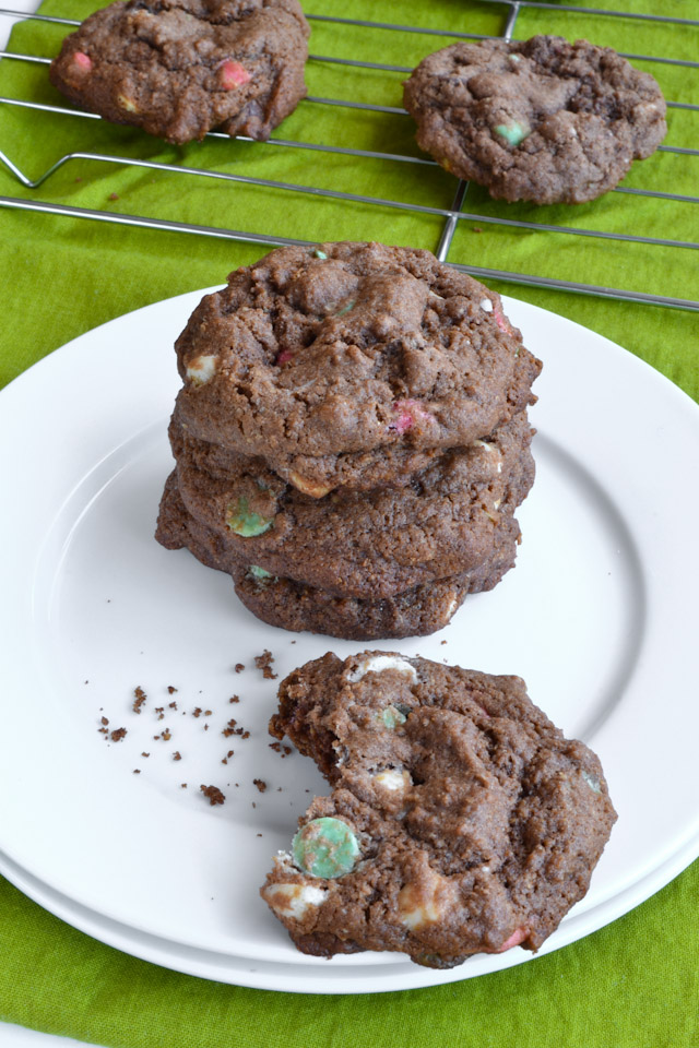 Mint Hot Chocolate Chip Cookies