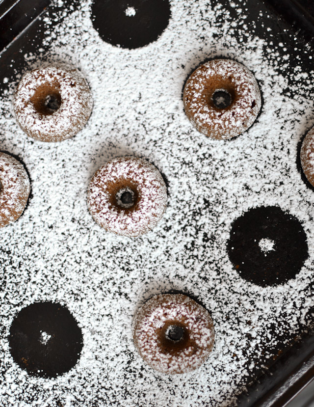 Baked Chocolate Mini Doughnuts