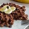 Chocolate Banana Bread Waffles