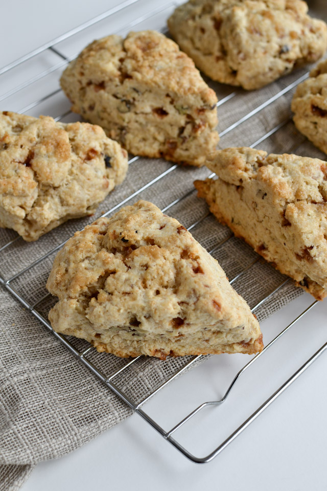 Skor Toffee Scones with Walnuts