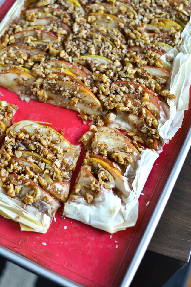 Apple Walnut Phyllo Tart