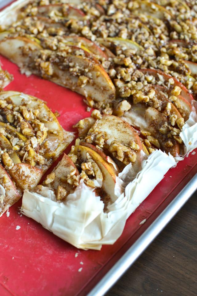 Apple Walnut Phyllo Tart