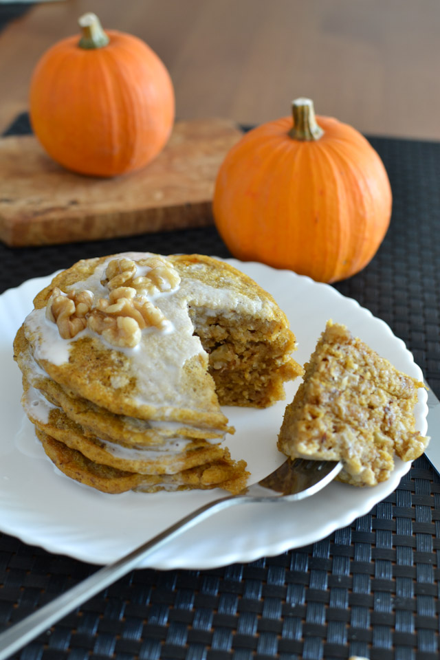 Vegan Pumpkin Spiced Walnut Pancakes