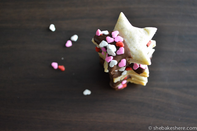 Chocolate Dipped Vanilla Bean Shortbread Cookies