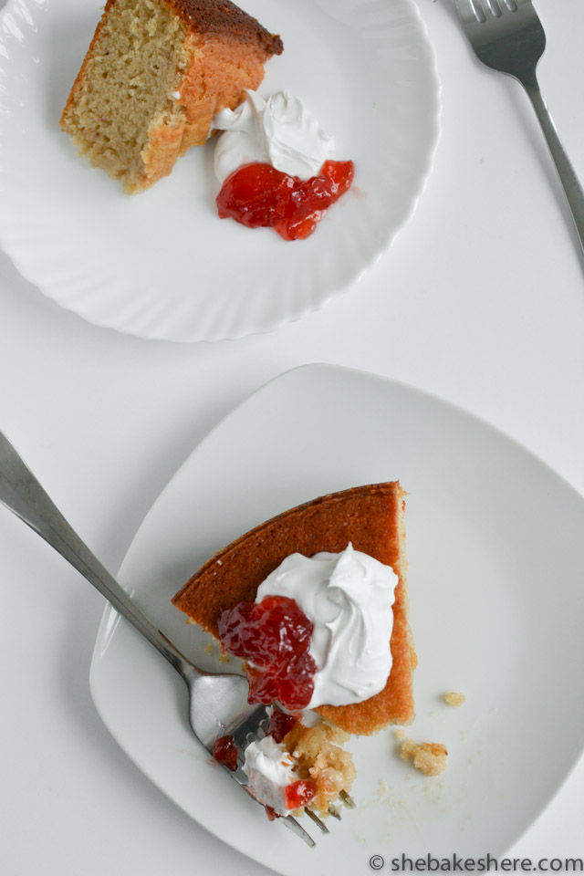 Strawberry Yogurt Cake with Coconut Whipped Cream
