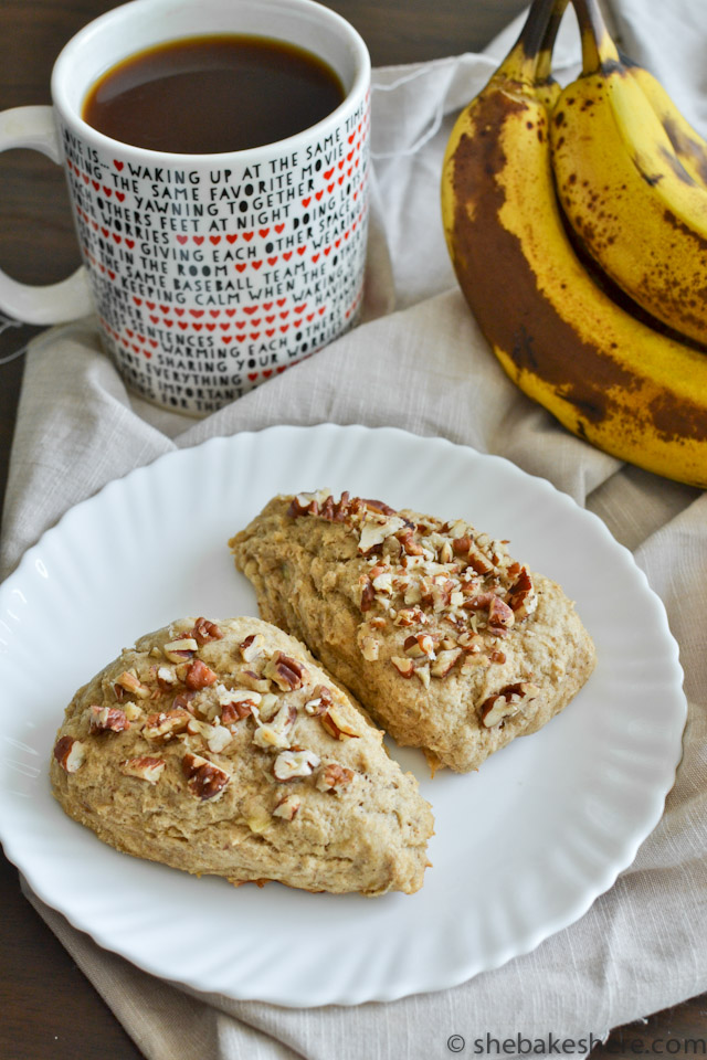 Banana Bread Pecan Scones