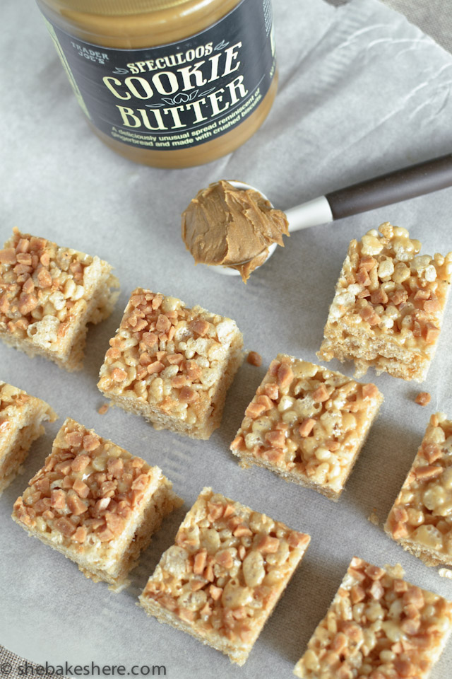 Cookie Butter Rice Krispies Squares