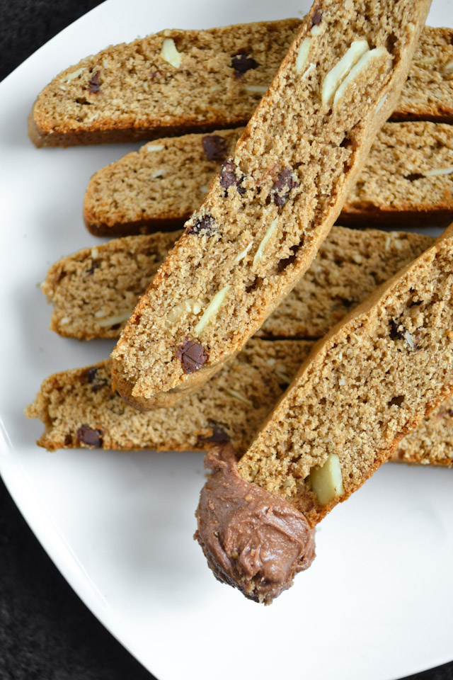 Reese Chocolate Spread and Almond Biscotti