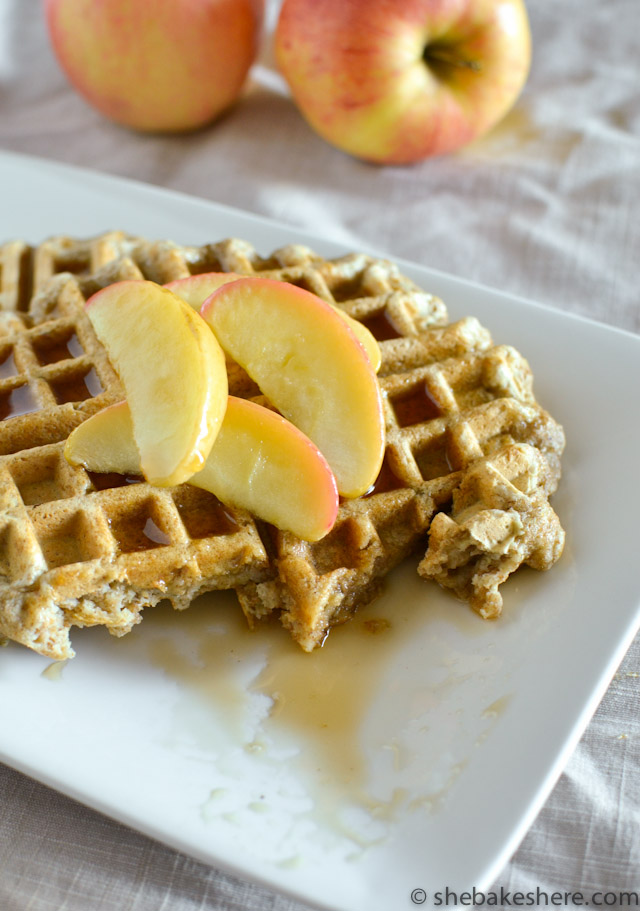 Whole Wheat Apple Ginger Waffles