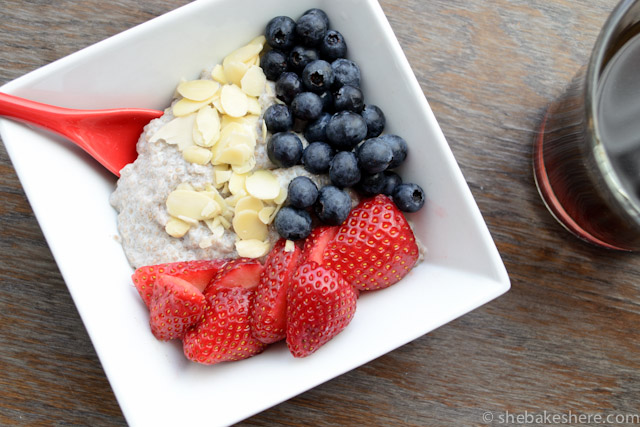 Easy Overnight Yogurt Chia Seed Breakfast Bowl - She Bakes ...