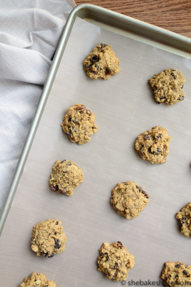 Quinoa Oatmeal Raisin Cookies Revisited