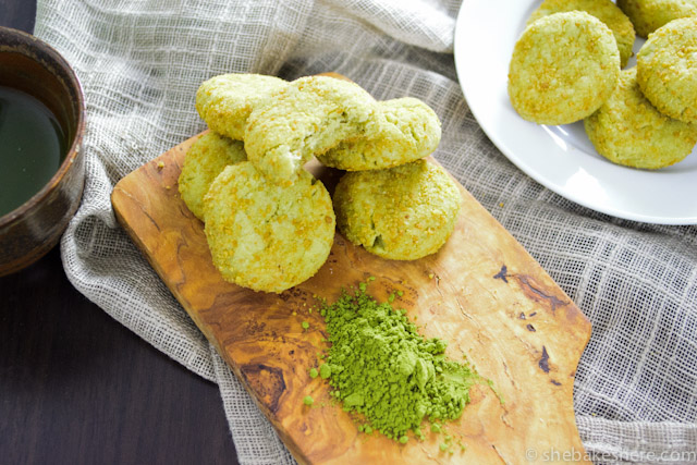 Matcha Cheesecake Cookies