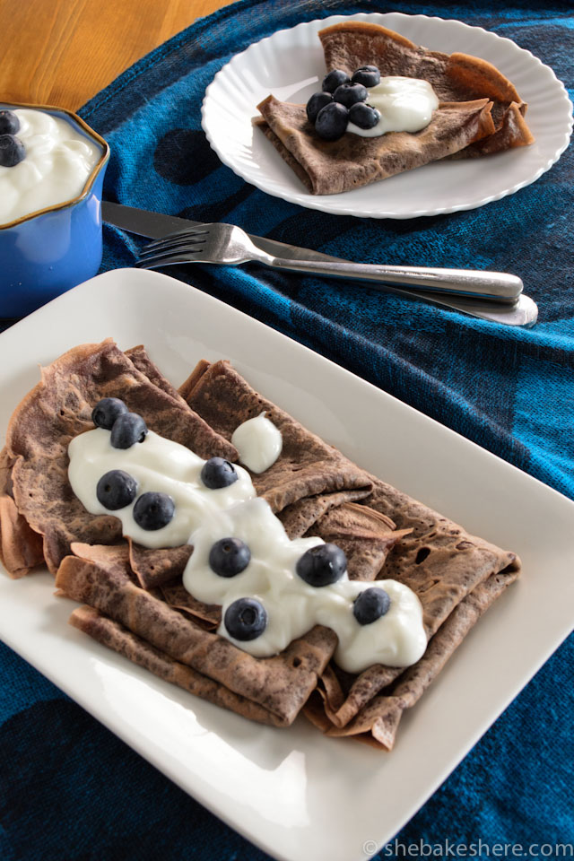 Dark Chocolate Crepes