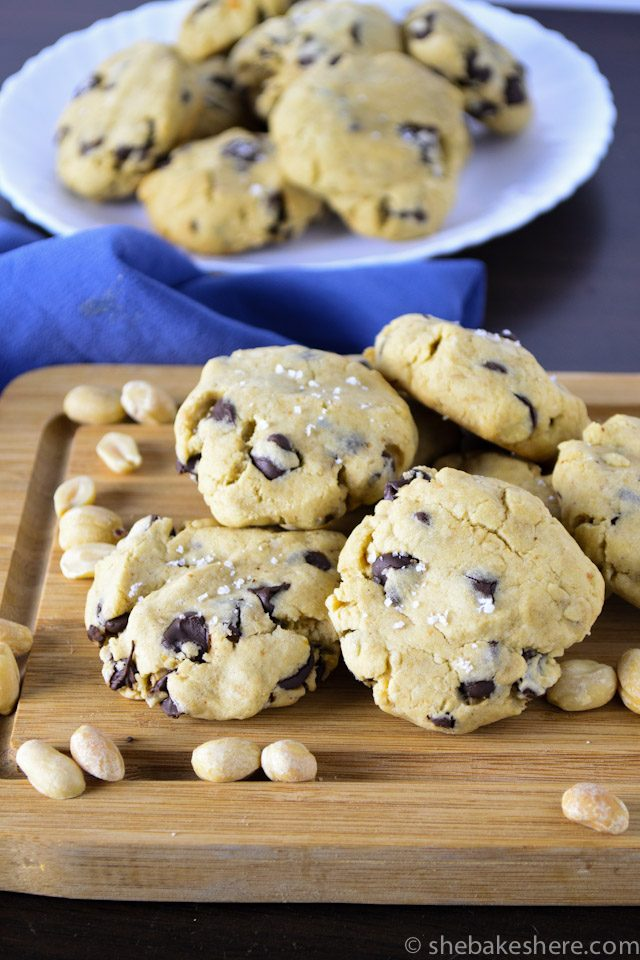Soft-Baked Chocolate Chip Peanut Butter Cookies