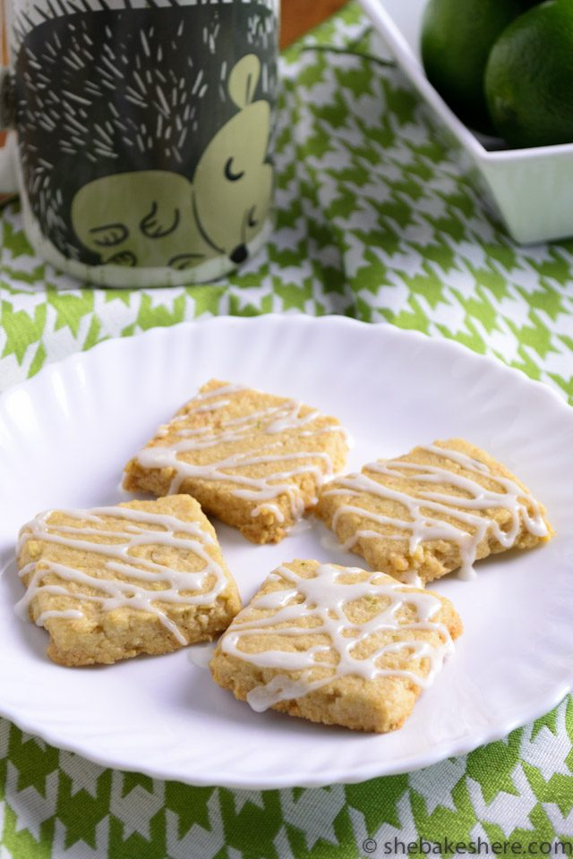 Coconut Lime Shortbread Cookies