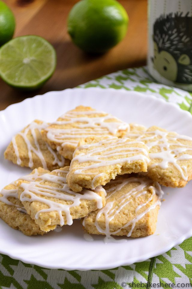 Coconut Lime Shortbread Cookies - She Bakes Here